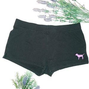 Victoria's Secret PINK Black Logo Shorts Sz Large
